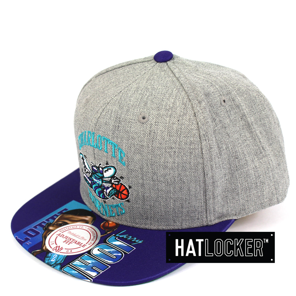 newest 72c80 e7898 Mitchell And Ness Charlotte Hornets Caricature Snapback Cap