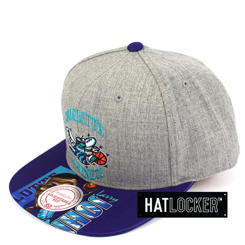 Mitchell And Ness Charlotte Hornets Caricature Snapback Cap