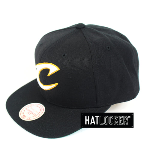 Mitchell And Ness Cleveland Cavaliers Wool Solid Snapback Cap