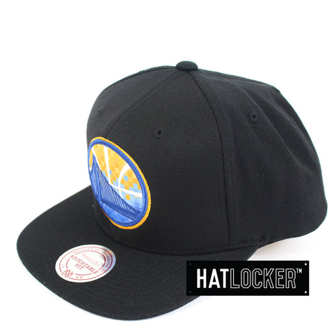 Mitchell & Ness Golden State Warriors Three Digital Snapback