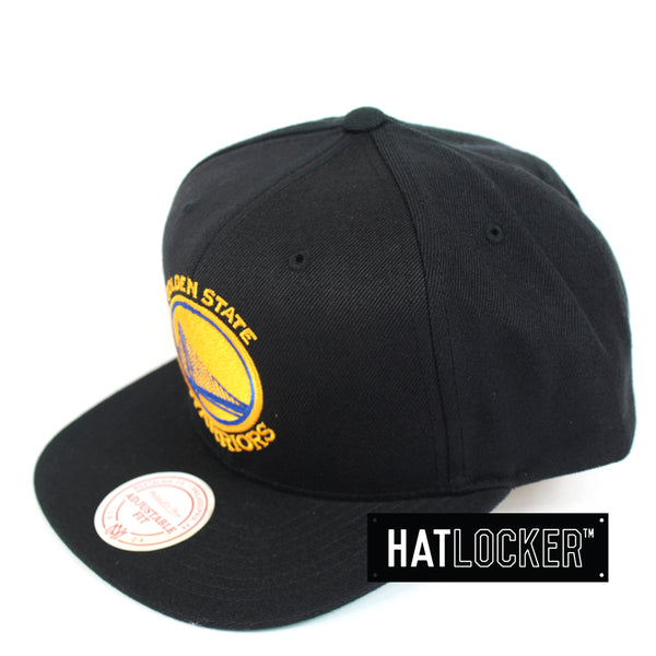 Mitchell And Ness Golden State Warriors Wool Solid Snapback Hat