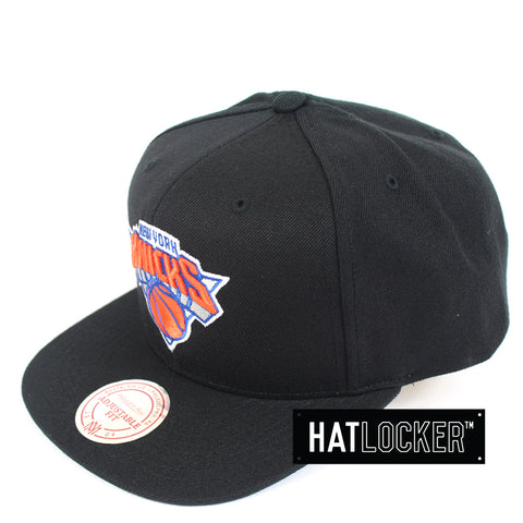 Mitchell And Ness New York Knicks Wool Solid Snapback Hat