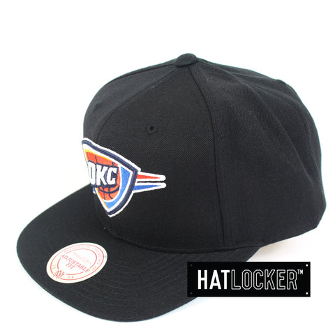 Mitchell Ness Oklahoma City Thunder Wool Solid Snapback Cap