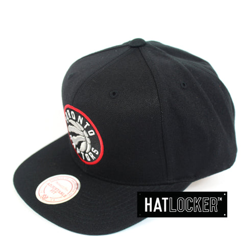 Mitchell And Ness Toronto Raptors Wool Solid Snapback Hat