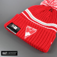 New Era Sydney Swans Team Colour Pom Knit Beanie
