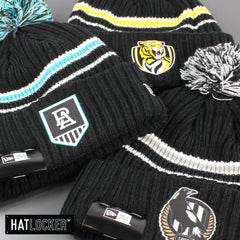 New Era Richmond Tigers Team Colour Pom Knit Beanie