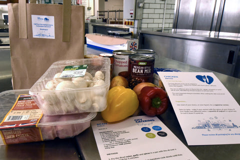 Food packages donated to those at risk of food poverty