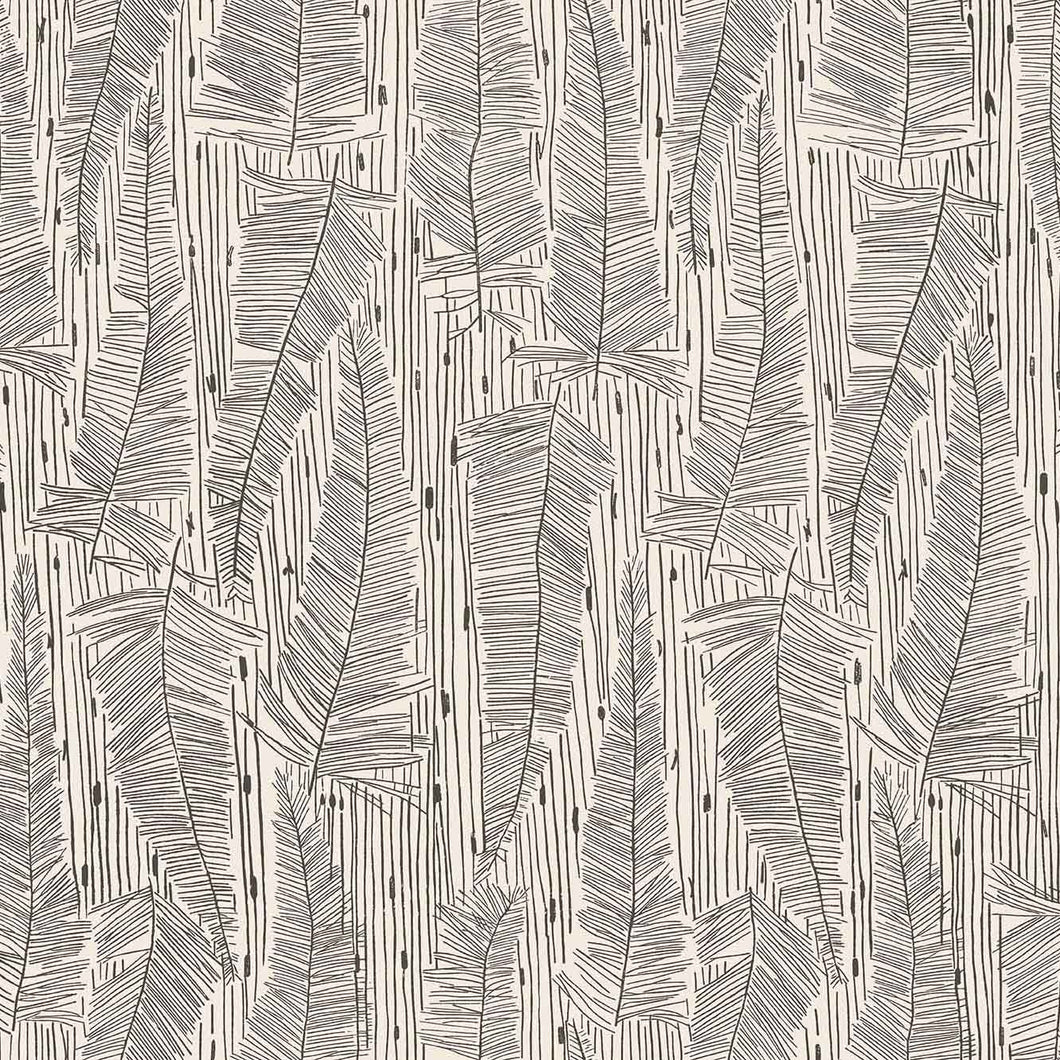 Georgia Avenue Feathers Wallpaper in Bone