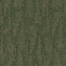 Load image into Gallery viewer, Georgia Avenue Feathers Wallpaper in Moss Green