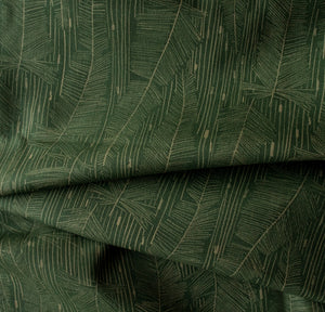 Georgia Avenue Feathers Organic Drill Cotton in Moss Green