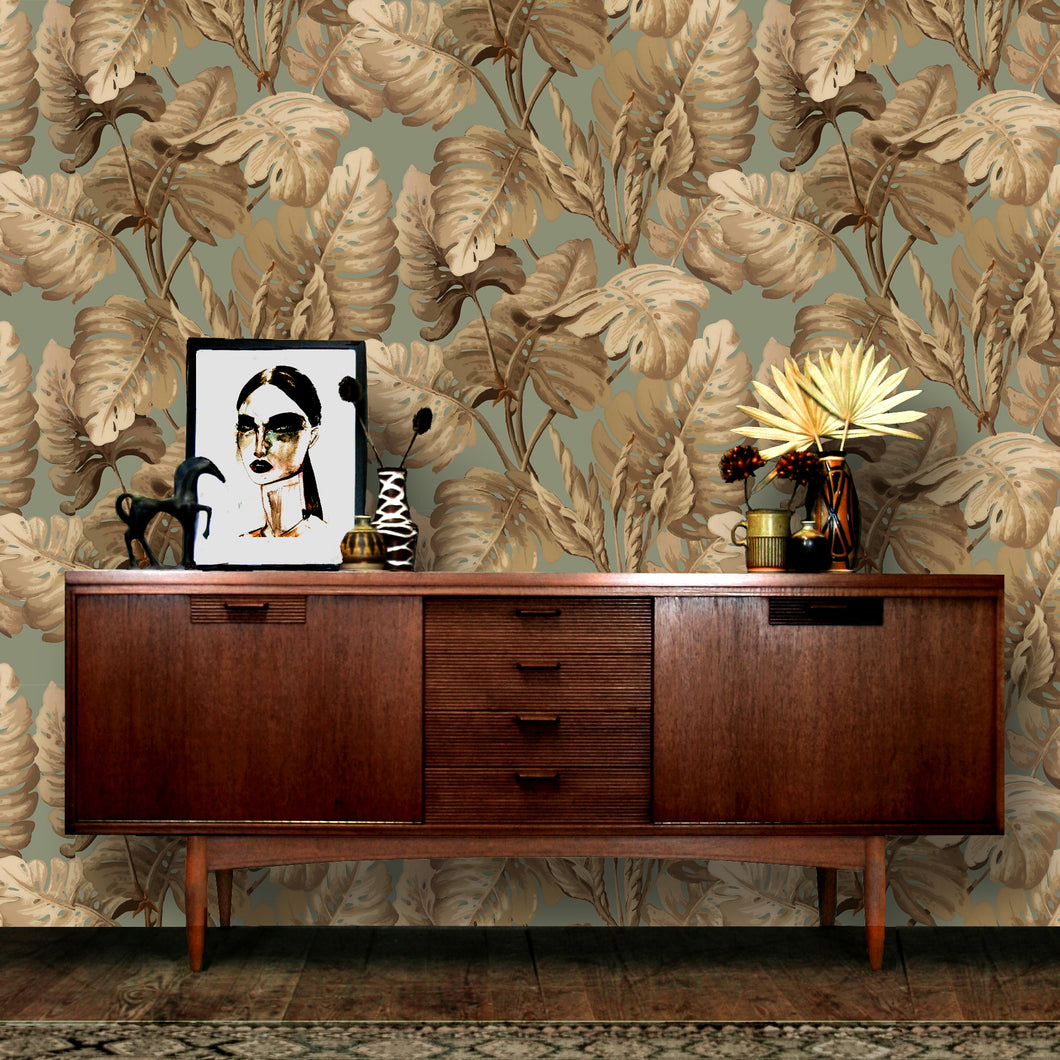 Hot House Wallpaper in Eau De Nil