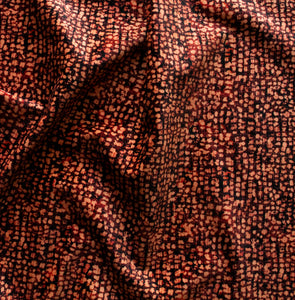 Mid-Century Texture Soft Velvet in Hot Chestnut