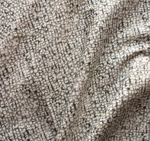 Mid-Century Texture Organic Drill Cotton in Stone