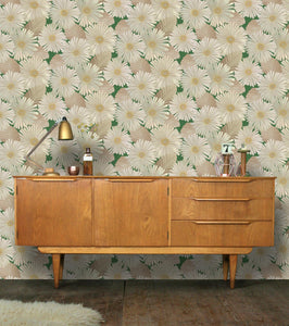 Bloom Wallpaper in Leaf Green