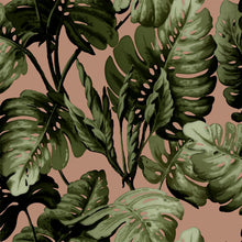 Load image into Gallery viewer, Hot House Wallpaper in Blush Green
