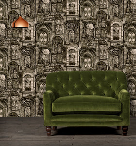 The Doors Wallpaper in Slate - Sample
