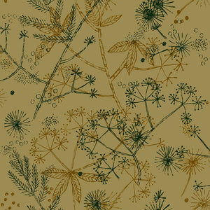 The Forager Wallpaper in Ochre