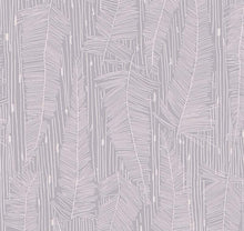 Load image into Gallery viewer, Georgia Avenue Feathers Wallpaper in Faded Lilac