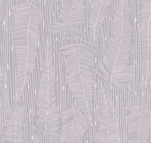 Georgia Avenue Feathers Wallpaper in Faded Lilac