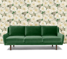 Load image into Gallery viewer, Bloom Wallpaper in Leaf Green