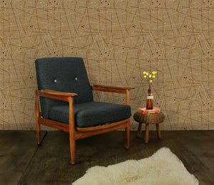 Mid-Century Artist Wallpaper in Ochre