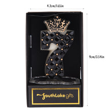 Load image into Gallery viewer, Royal Black Number 0-9 Birthday Candle