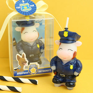 iLikePar Baby Cow Police Candle