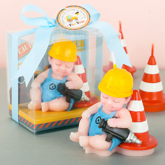 Baby in Engineer Suit Candle
