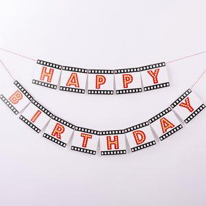 'Happy Birthday' Filmstrip Pull Flag