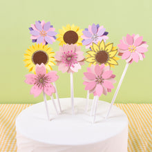 Load image into Gallery viewer, iLikePar Flower Theme Cake Topper
