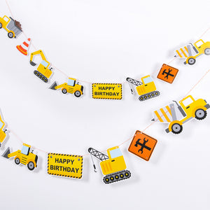 Construction Toy Theme Party Pull Flags
