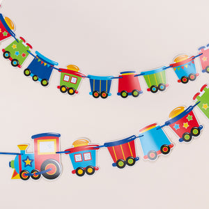 Toy Train Party Party Banner