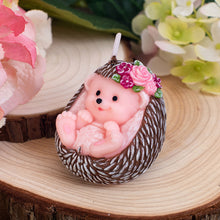 Load image into Gallery viewer, Cute Hedgehog Baby Candle Autumn Animal for Children Baby Shower  Birthday Party