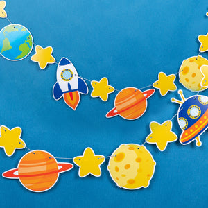 Planet & Rocket Party Banner