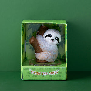 Cute Baby Sloth Birthday Candle