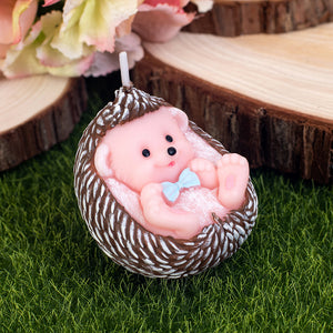 Cute Hedgehog Baby Candle Autumn Animal for Children Baby Shower  Birthday Party