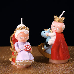 King Grandpa & Queen Grandma Candle