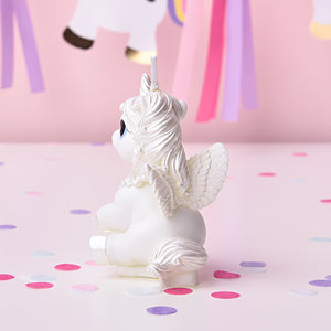 Silver Unicorn Candle