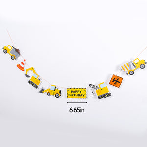 iLikePar Construction Toy Theme Party Banner