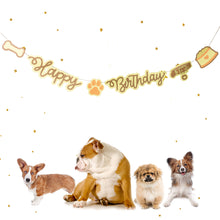 Load image into Gallery viewer, Puppy 'Happy Birthday' Party Banner