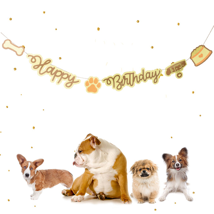 Puppy 'Happy Birthday' Party Banner