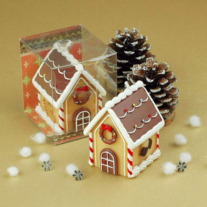 Christmas Gingerbread House Candles