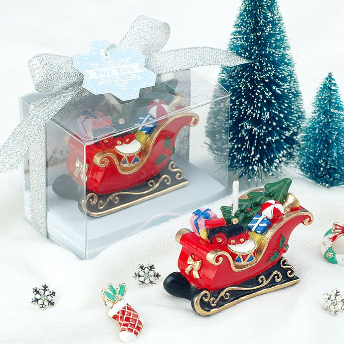 Christmas Gift Box Sled Candle