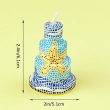 Load image into Gallery viewer, Coming Soon Starfish Birthday Candles Cake Topper Candle for Party Supplies and Wedding Favor