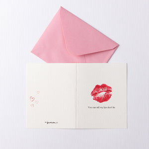Red Lip Card