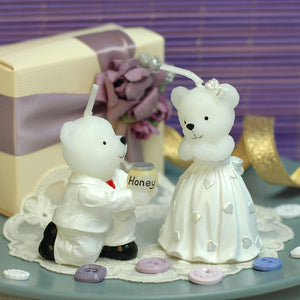Teddy Bear Proposal Candles