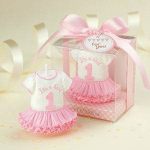 Coming Soon  Lively Sports Suit Baby Birthday Candle Cake Topper Baby Shower Favors -Girl