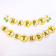 Load image into Gallery viewer, Bee Happy Birthday Party Banner