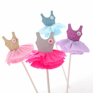 Skirt Cake Topper Cupcake Topper, Birthday Cake Supplies Decorations