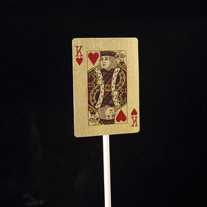 iLikePar Classic King & Queen Poker Cake Topper